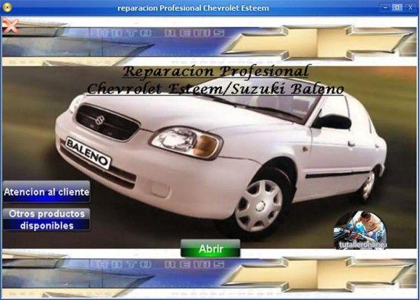 Manual De Taller Chevrolet Esteem Suzuki Baleno 1999