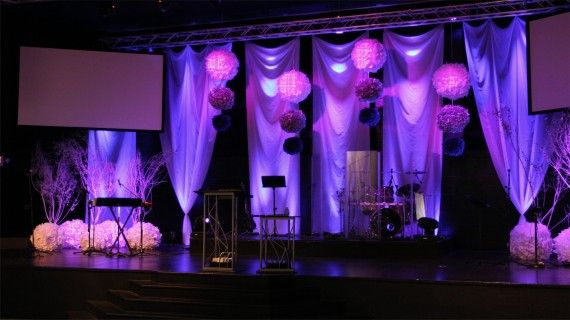 joey riggins from lighthouse church in panama city beach fl brings us this stage design incorporating pimped out paper lanterns