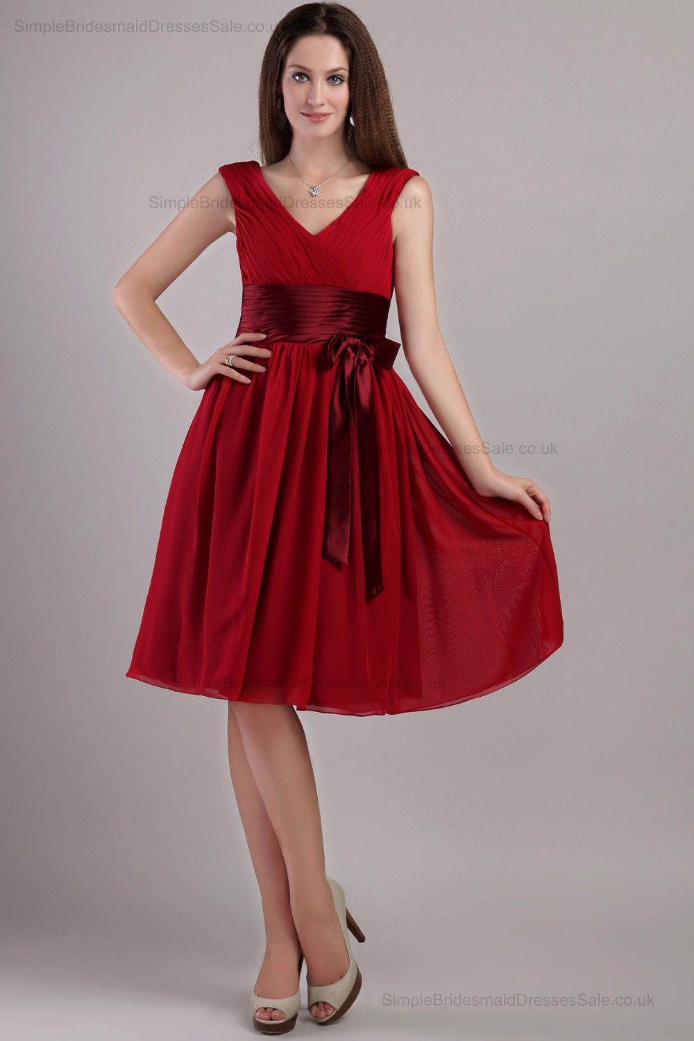 Red Maid of Honor Dresses for Girls