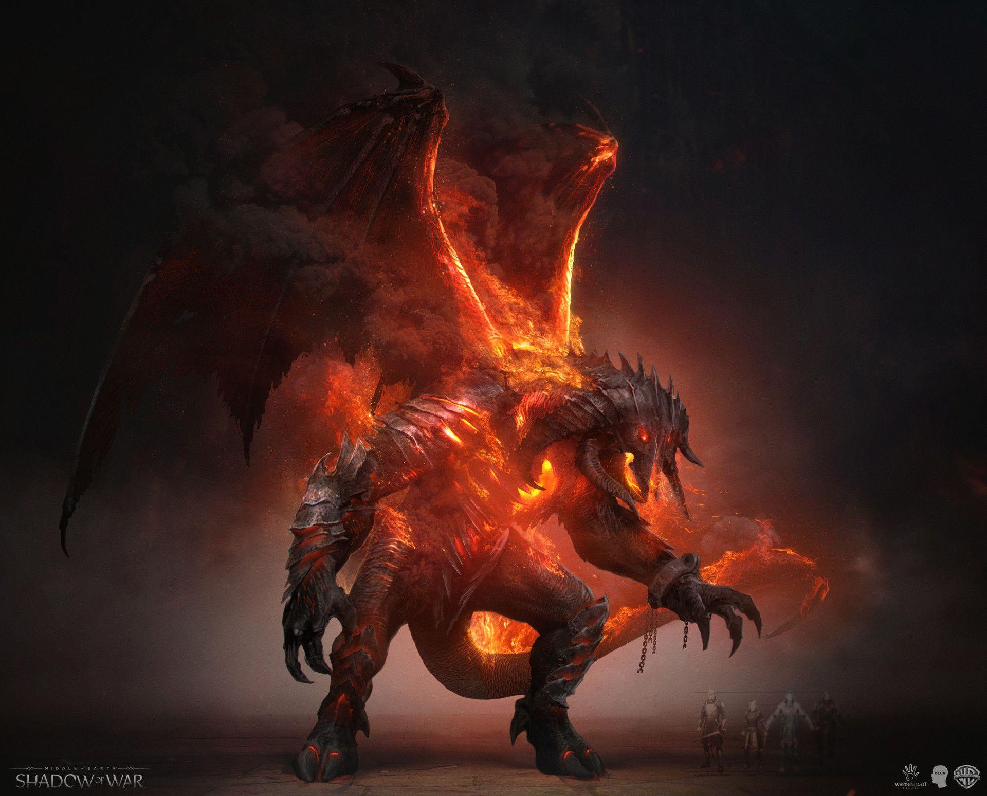 Wardenlight Studio Wardenlight Blur Shadow Of War Balrogfx02 Jpg 1 920 1 548 Pixels Balrog Shadow Of Mordor Middle Earth Art