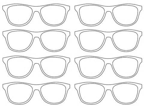 printable sunglasses coloring pages | Free coloring pages of nerd glasses clip art | Happy ...
