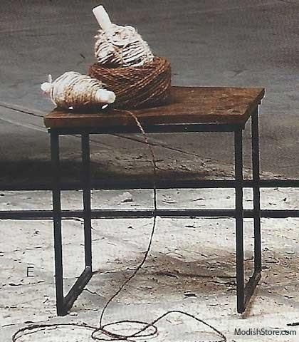 Roost Recycled Wood Cube Table   Set Of 2