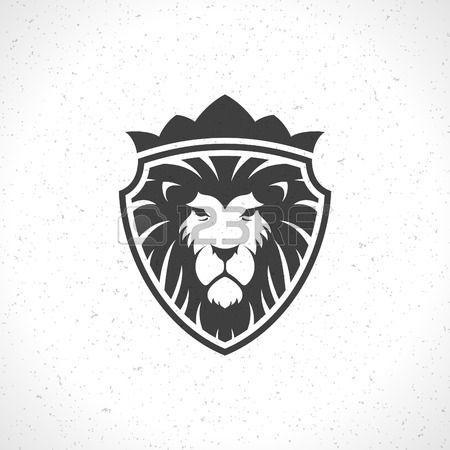 Lion Face Icon Emblem Template For Business Or T Shirt Design Lion