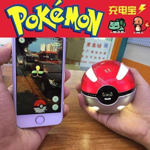 Pokemon Go Pokeball 10000 Mah LED Quick phone Charge Power Bank Charger