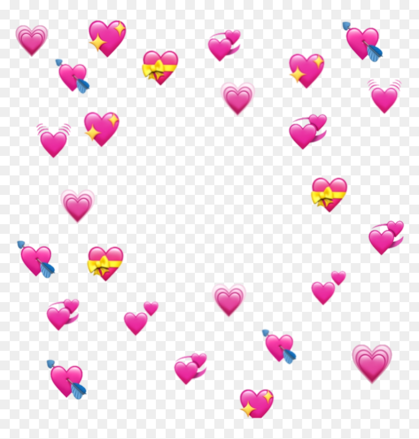 Hearts Pink Love Corazones Rosa Emoji Amor Bunchofhearts Transparent Heart Emoji Meme Hd Png Download Heart Emoji Blue Heart Emoji Love Heart Emoji