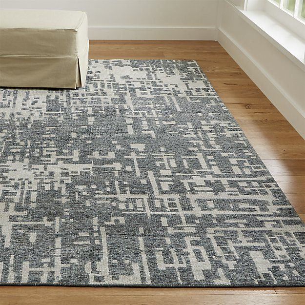 Mineral Encrusted Walls Along The Waterways Of India Ganges River Inspired This Gorgeous Grey Rug Rendered In A Pixilated Array Neutral And Cool
