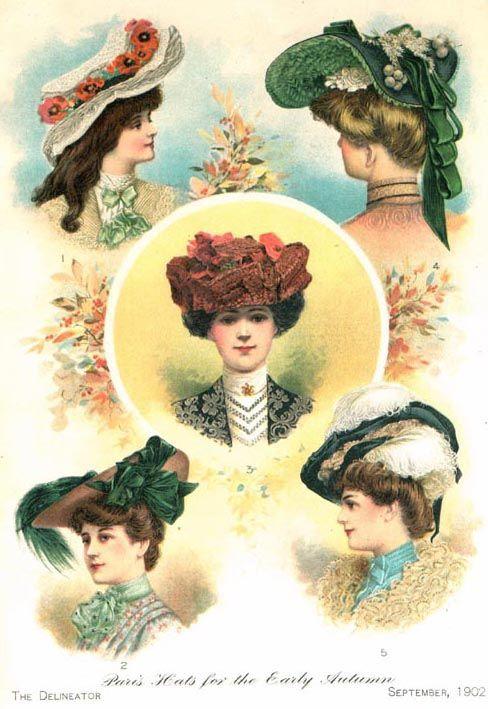 Womens Hats of 1900-1910  ec64557d158