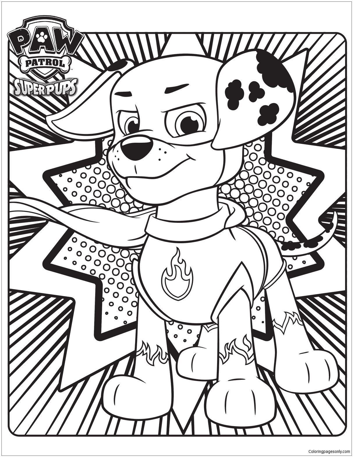Paw Patrol Halloween Color Pages