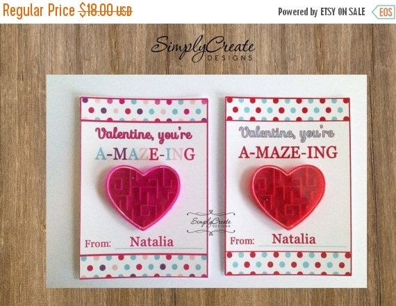 sale 12 valentine cards with heart maze personalized valentines a