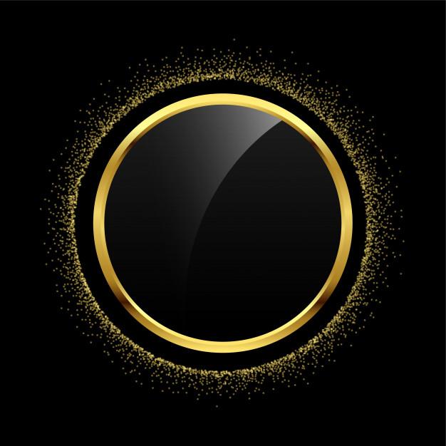 Download Empty Circle Golden Glitter Frame Background For Free Glitter Frame Frame Background Gold Poster