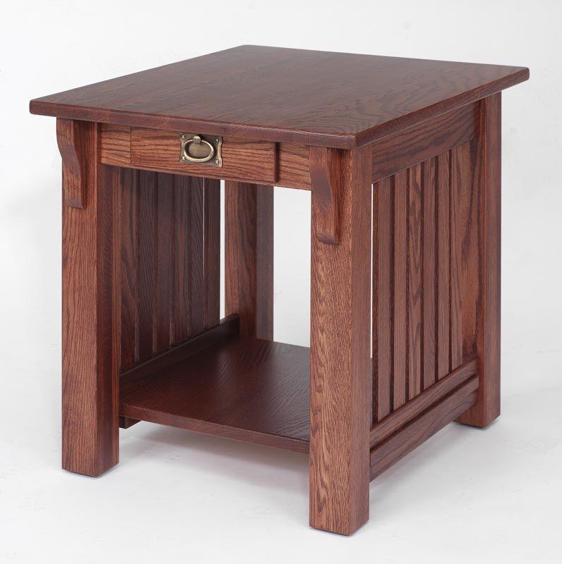Superb Solid Oak Authentic Mission End Table   X   The Oak Furniture Shop