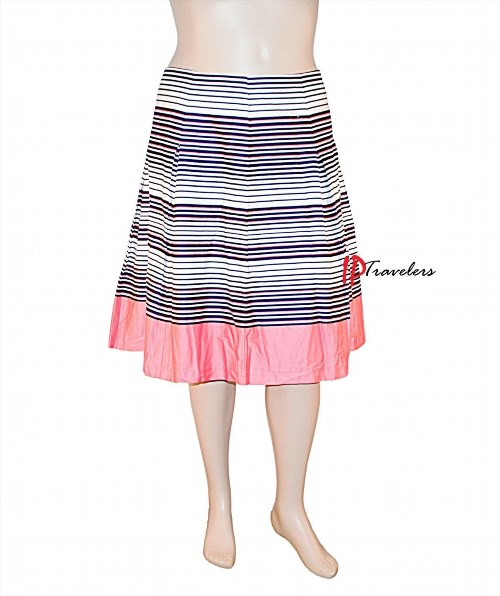 79.50$  Buy here - http://viwtw.justgood.pw/vig/item.php?t=e24oav27264 - Charter Club Women's A-Line Skirt Pleated Blue with Pink White 100% Cotton $79
