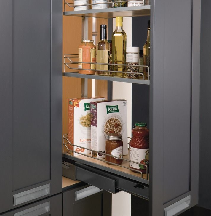 Pull Out Pantry Frame Full Extension 256 Lbs Weight Capacity In The Hafele America Shop Pull Out Pantry Hafele Adjustable Shelving