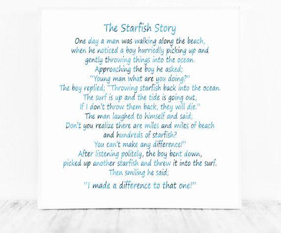 photograph regarding Starfish Poem Printable referred to as The Starfish Tale, The Starfish Poem, Loren Eiseley