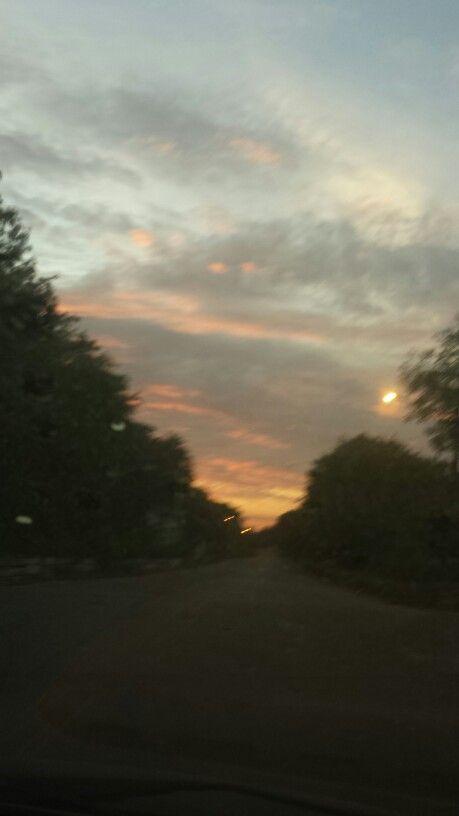 Céu do amanhecer...nuvens em vários tons...