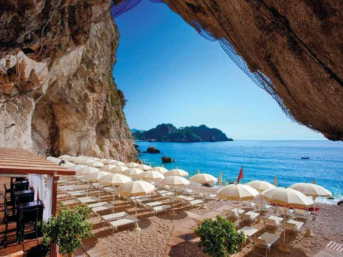 Capotaormina Private Hotel Beach In Sicily Italy An Amazing