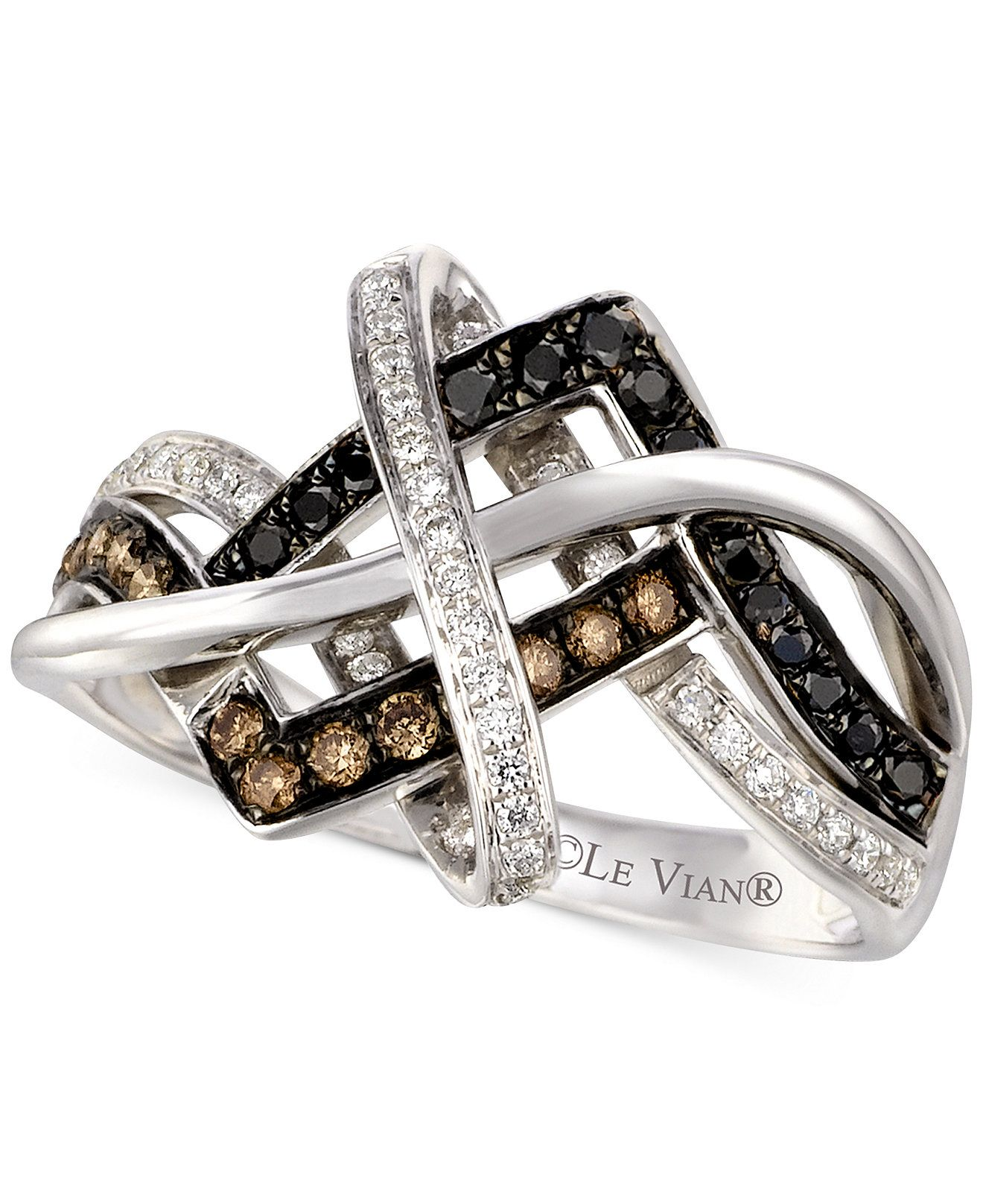 everlon diamond knot ring collection wedding set jewelry