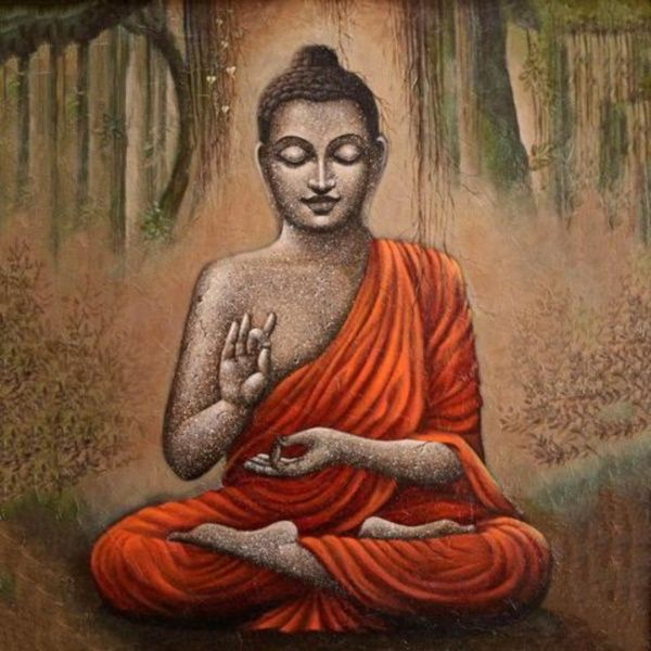 35 Peaceful Gautam Buddha Painting Ideas to Feel Calm is part of Buddha art painting, Buddha canvas, Buddha art, Buddha painting, Buddha wall art, Art - The Peaceful Gautam Buddha Painting Ideas above have got a universal appeal  And the number of lovers for such paintings is actually uncountable  And that is why you should try them out first, before working your way up to more complex themes including greater number of subjects within the frame