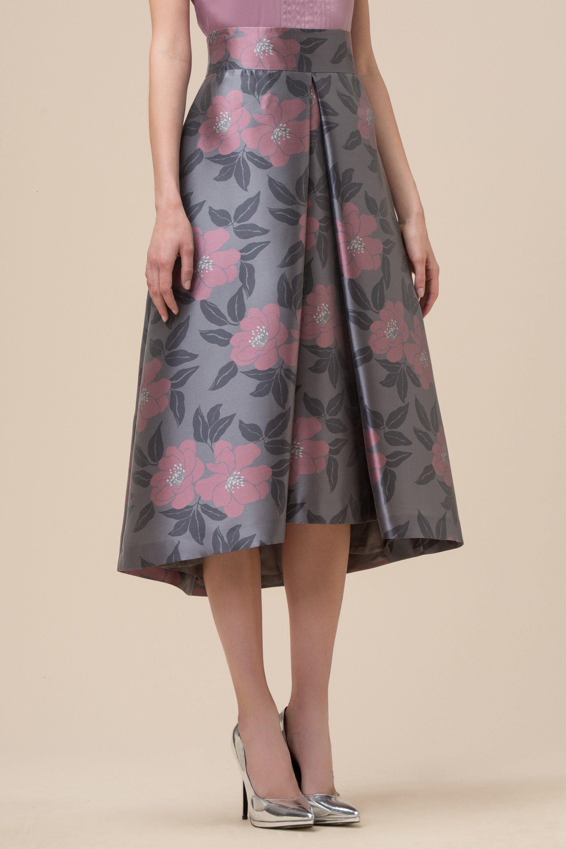 ebe36a92ffec Šaty · Floral print duchesse fabric skirt - Skirts   Shorts - Clothing