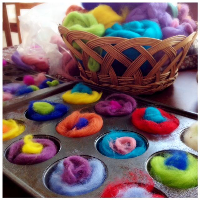 Felted Flowers – Perfect Activity for Little Ones