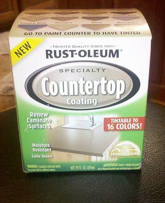 Saturday Mornings: Countertop Makeover: Rustoleum Laminate Coating
