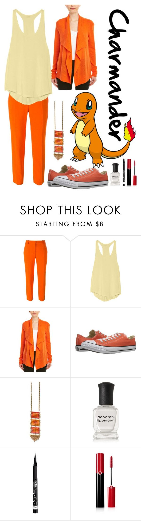 """Charmander"" by xxmonnyxx on Polyvore featuring STELLA McCARTNEY, Yummie by Heather Thomson, Magaschoni, Converse, Deborah Lippmann, Rimmel and Giorgio Armani"