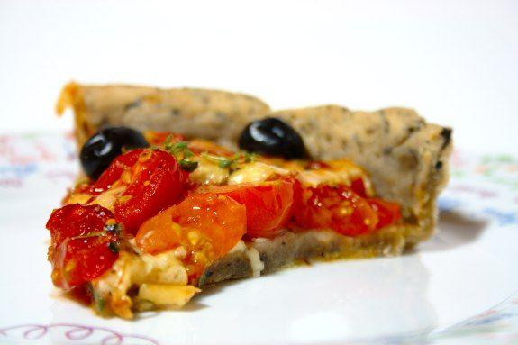 Tarte De Tomate Cereja Com Azeitonas E Queijo Mozzarella