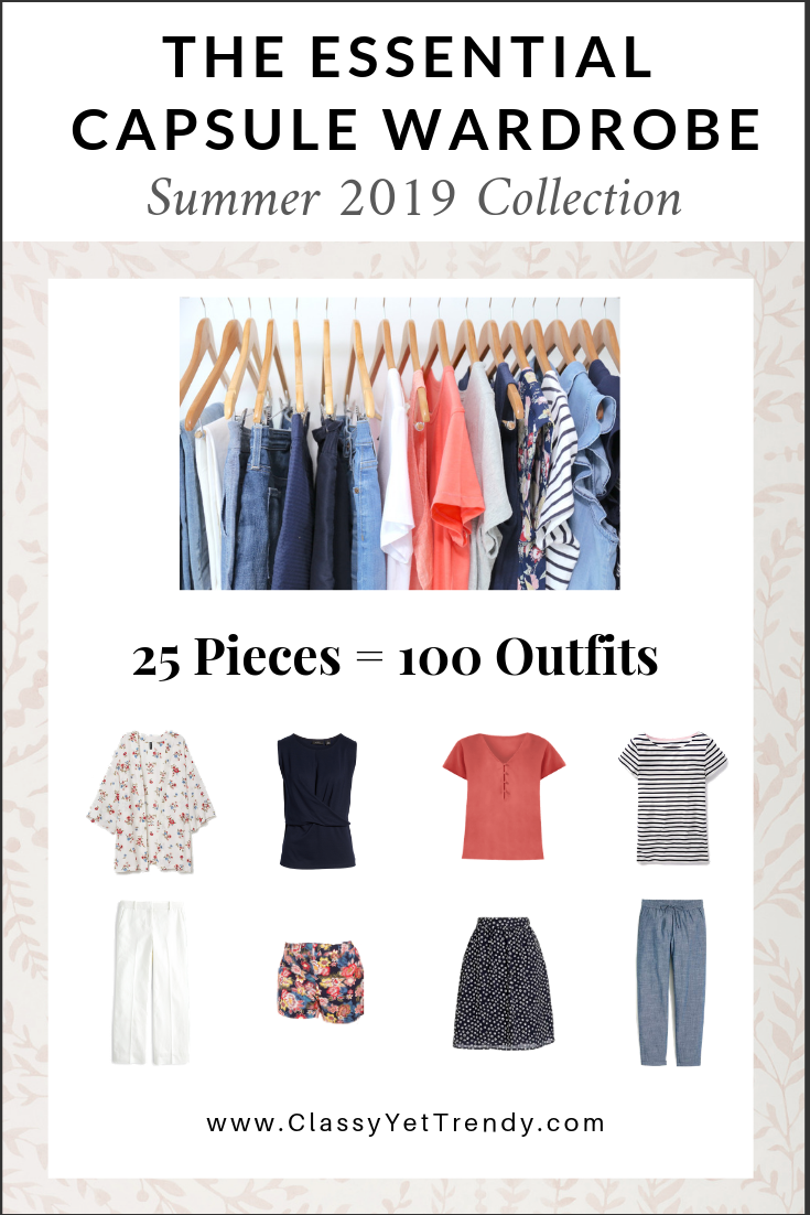 the essential capsule wardrobe summer 2019 collection