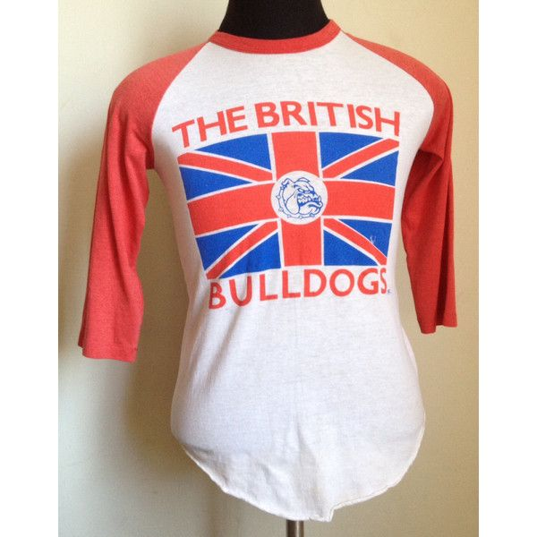 80s Vintage The British Bulldogs Wwf Wwe Baseball T Shirt Medium British Bulldog Baseball Tee Shirts Baseball Tshirts