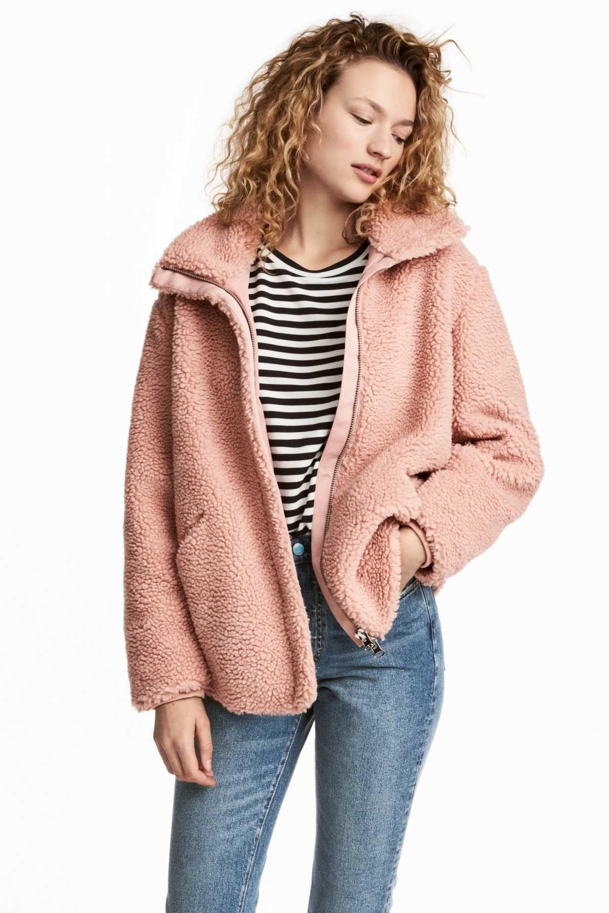 Pile Jacket Powder Pink Women H M Us Womens Winter Fashion Outfits Winter Fashion Outfits Online Womens Clothing [ 1800 x 1200 Pixel ]