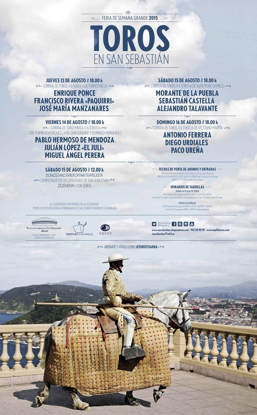 #SemanGrande2015 #Donostia #SanSebastian www.sansebastian.choperatoros.com