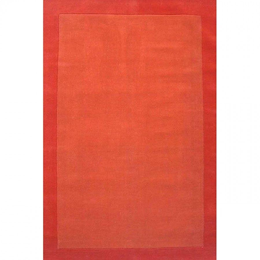 Acura Rugs Loom Orange / Dark Orange Contemporary Rug