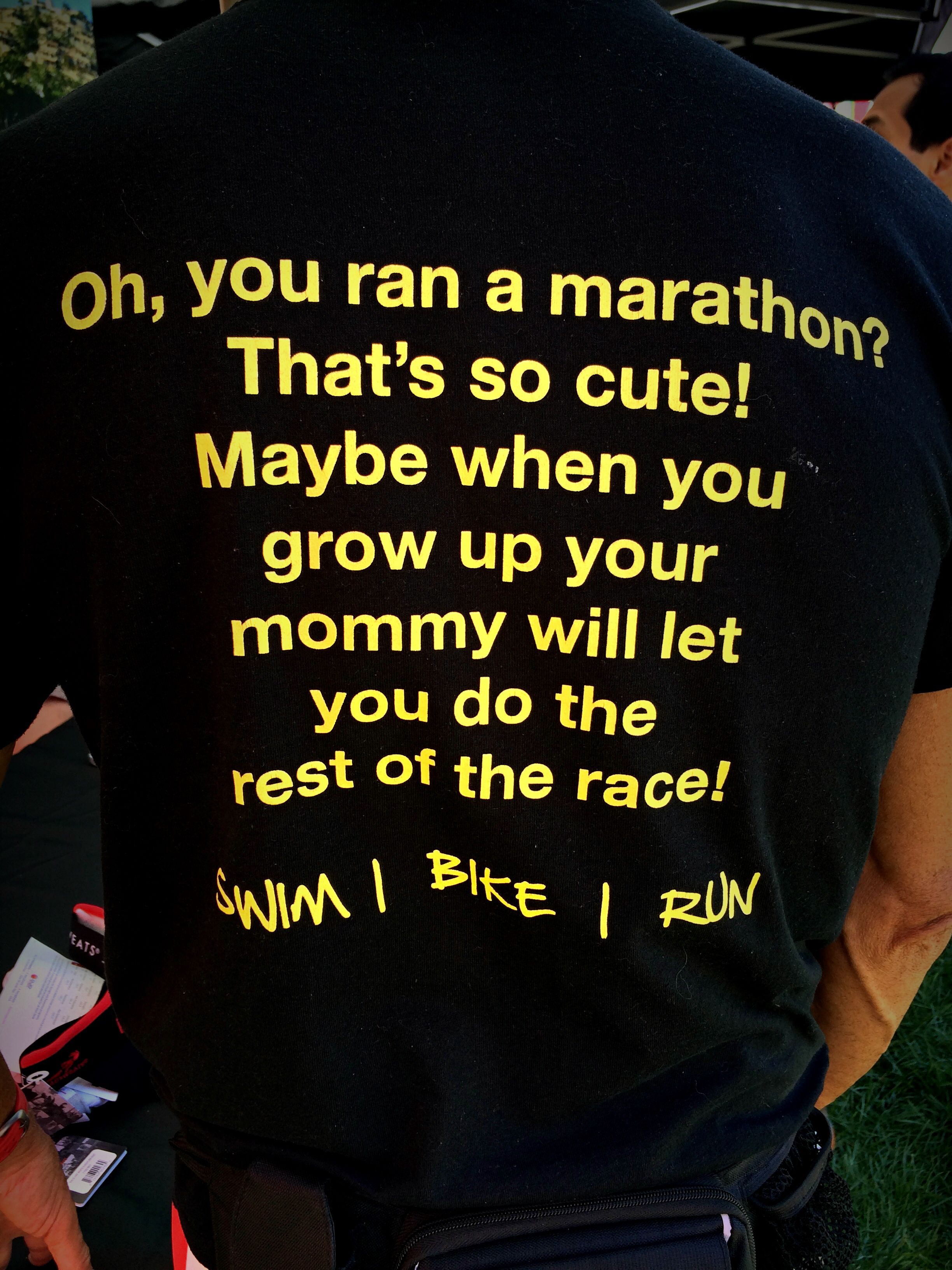 a1714beb Some day I will run a marathon and then do a full ironman then get this  shirt HAHAH More
