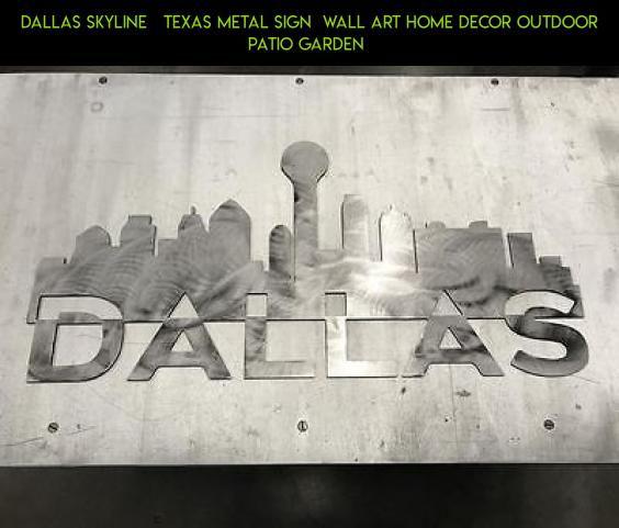Dallas Skyline Texas Metal Sign Wall Art Home Decor Outdoor Patio ...