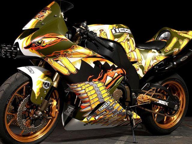 Яркий мотоцикл Хонда - обои для рабочего стола, картинки ...