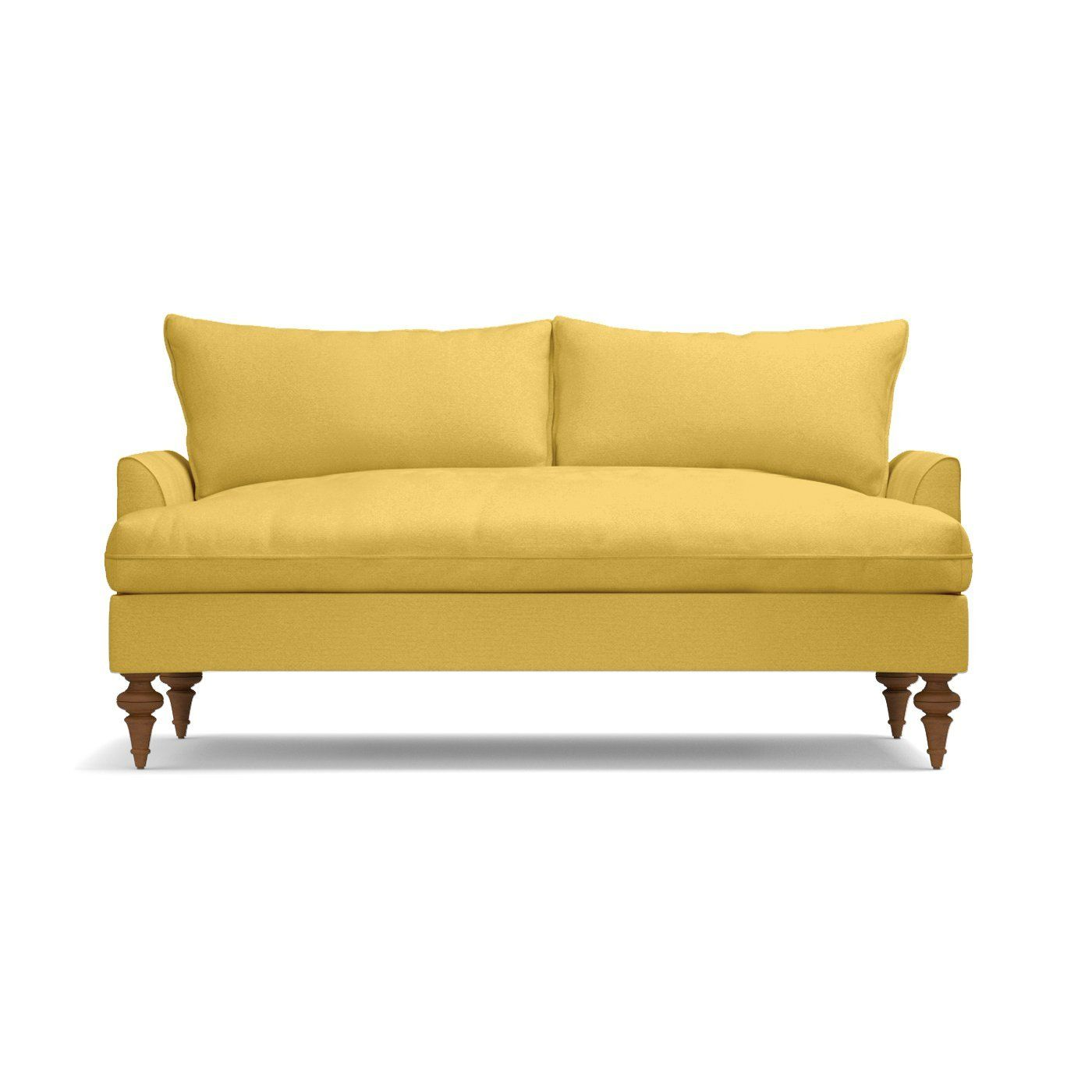 Saxon Apartment Size Sofa Leg Finish Pecan Size Apartment