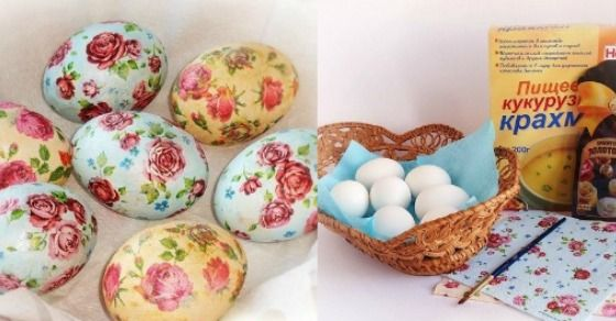 Farbanje jaja dekupaž tehnikom ne možemo predstaviti kao klasično farbanje, ali možemo reći da je ovo prelepa uskršnja dekoracija.