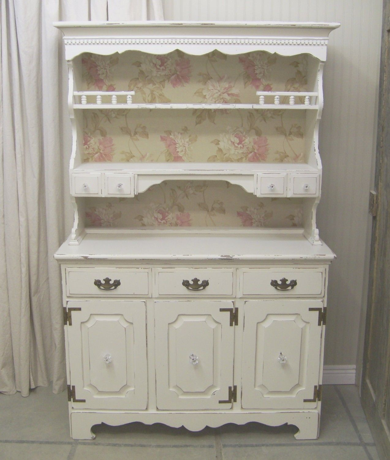 Shabby White Cottage Kitchen Hutch Chic Kitchen Hutch Antique