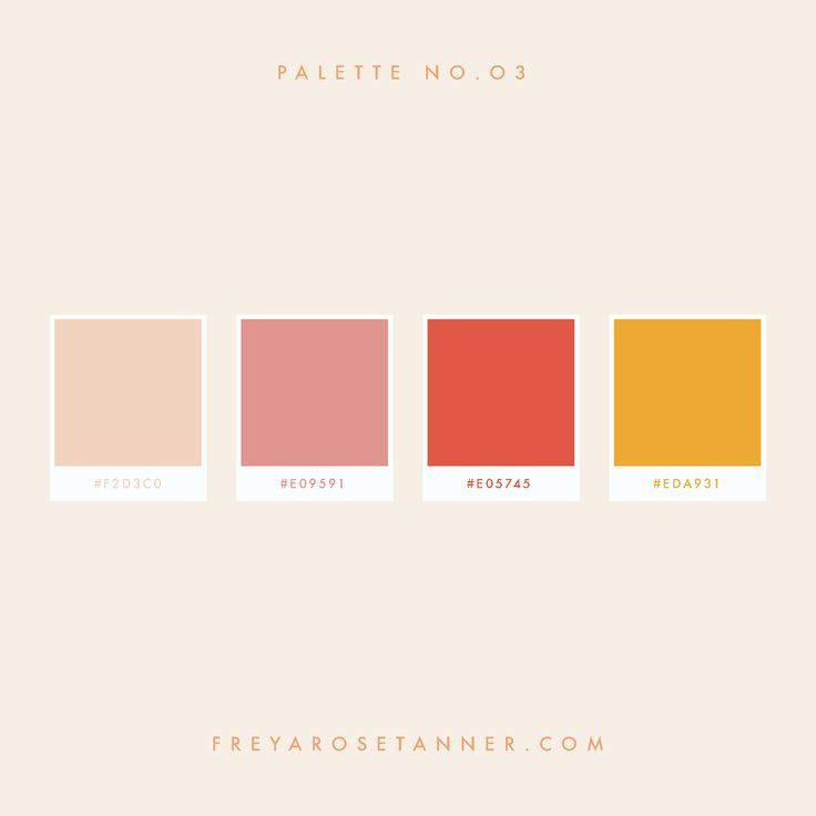 pink red yellow colour palette