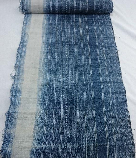 Vintage Handwoven Hmong Hemp Fabric on Etsy  #hmong #vintage #hmongfabric #hmongtextile #hilltribe #vintagetextiles #vintagefabric #indigo #indigobatik #batik #handwoven #handspun #hemp #hmonghemp #organichemp #lanna