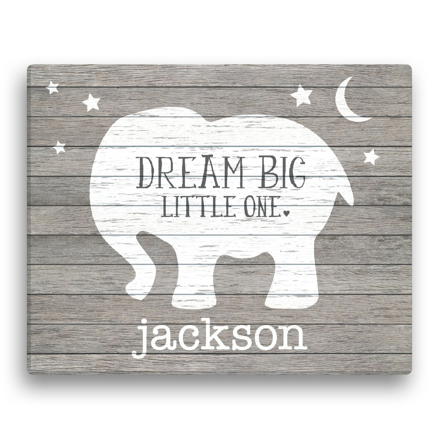 Dream big little one personalized elephant canvas personalized dream big little one personalized elephant canvas personalized baby gifts unique negle Images