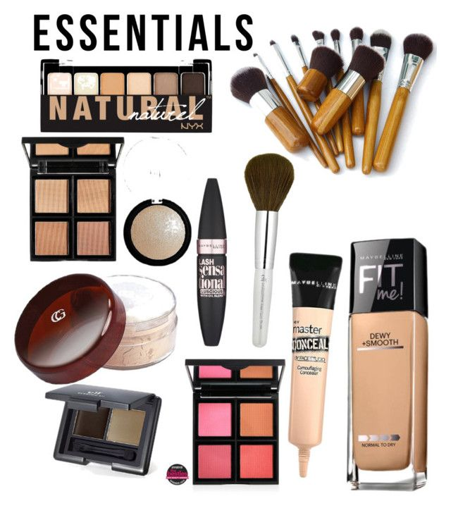 """makeup essentials"" by brookelyn96 ❤ liked on Polyvore featuring beauty, e.l.f., Maybelline, COVERGIRL, NYX, contestentry, PVStyleInsiderContest and makeupbagstaples"