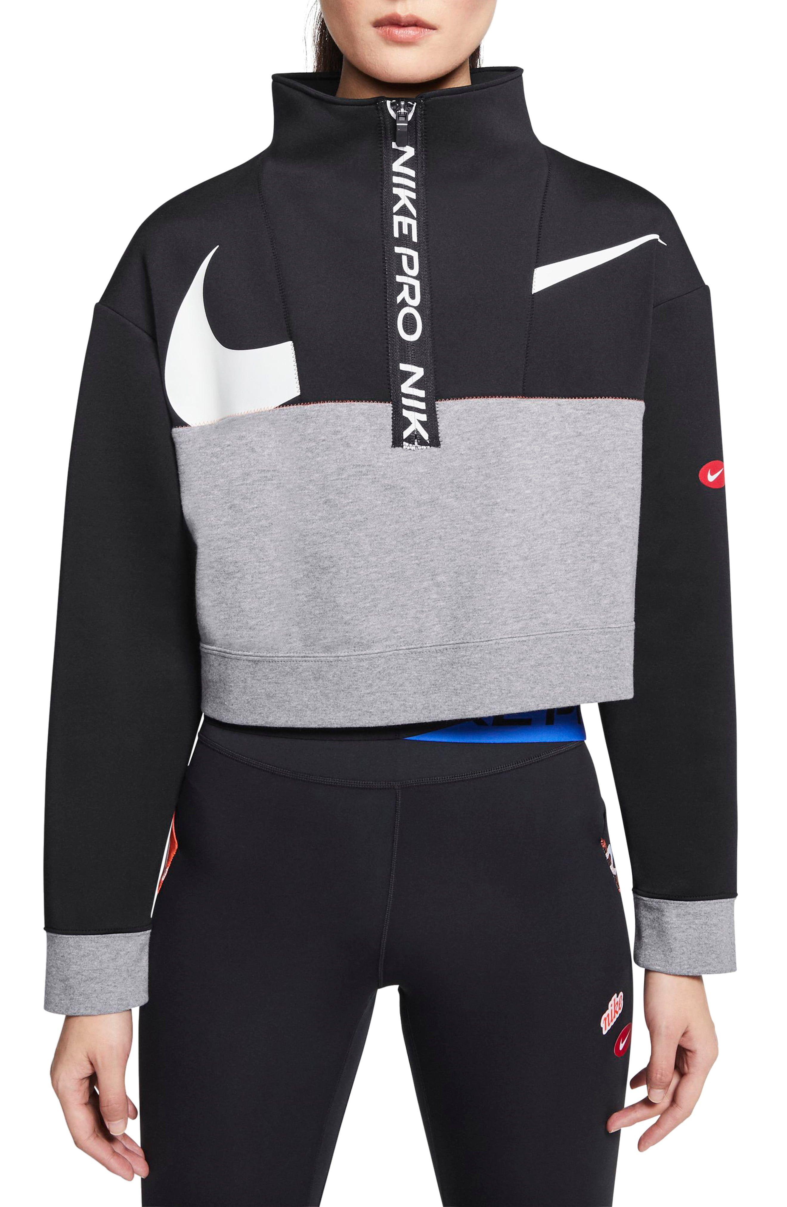 Nike Pro Dri Fit Get Fit Crop Fleece Half Zip Pullover Nordstrom Half Zip Pullover Nike Pros Pullover [ 4048 x 2640 Pixel ]