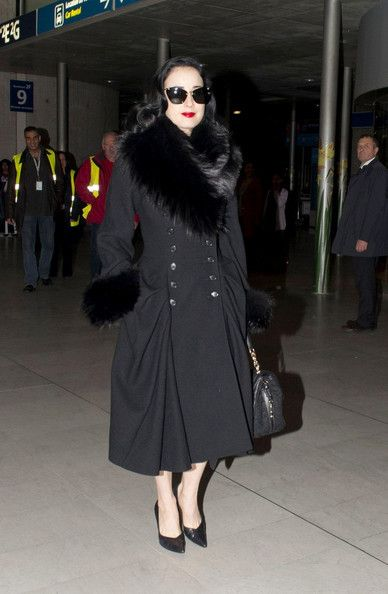Dita Von Teese Winter Coat