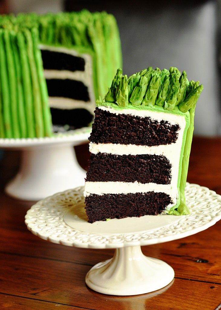 asparagus cake. nuts!