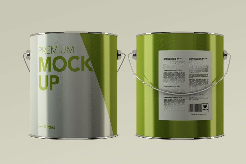 20 Excellent Paint Mockup Psd Templates Mockuptree Aluminum Paint Mockup Mockup Psd