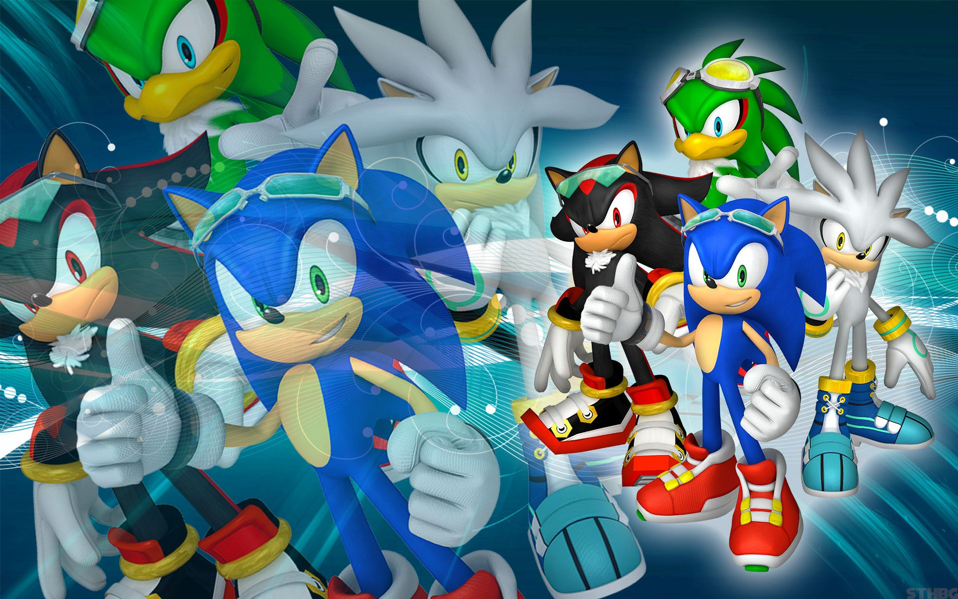 SonicTheHedgehogBG Sonic, Shadow, Silver And Jet SFR