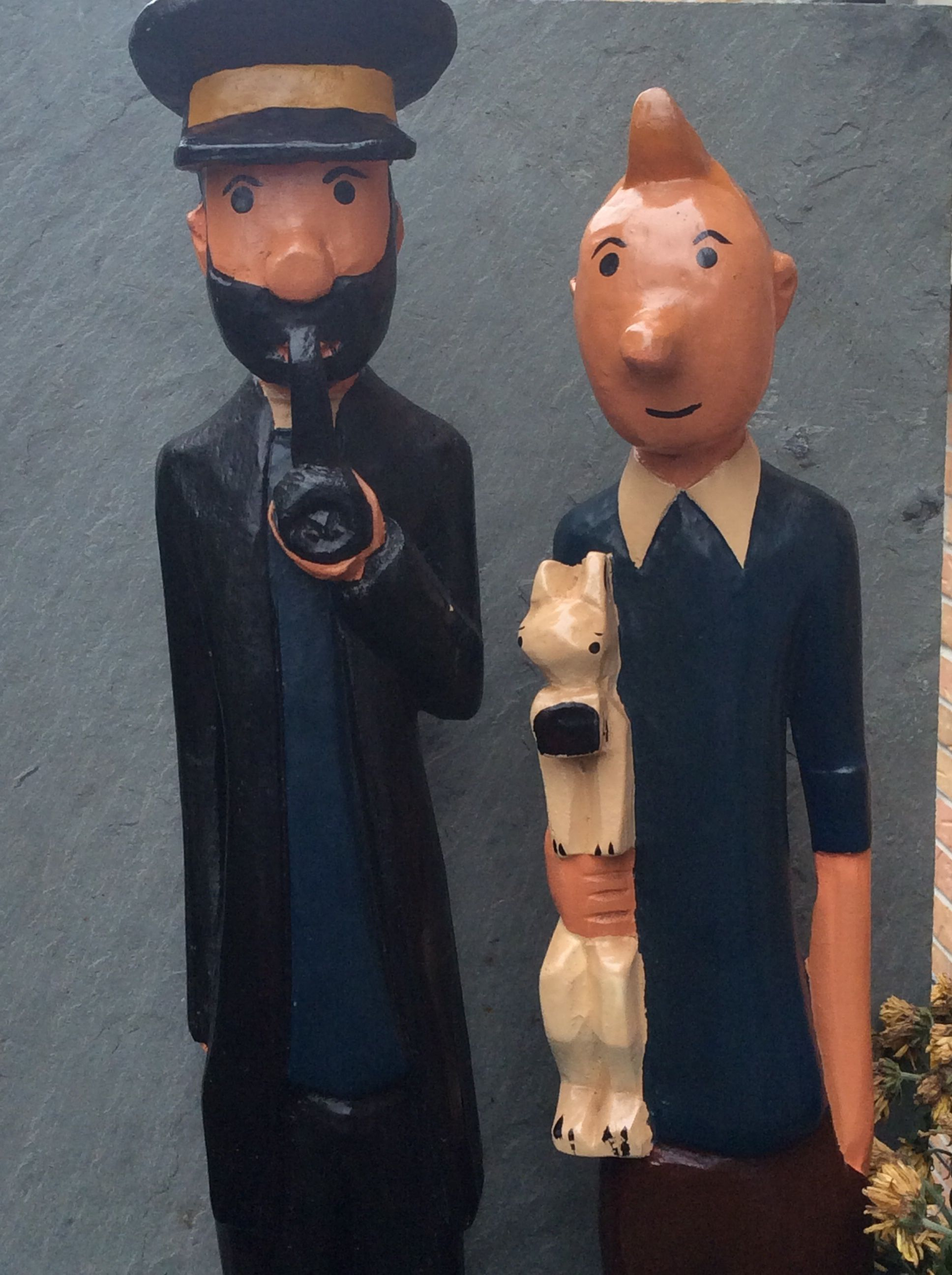 Tintin Snowy And Captain Haddock West African Colonial Colons