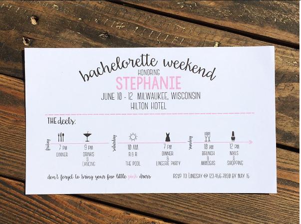 Bachelorette Trip Itinerary