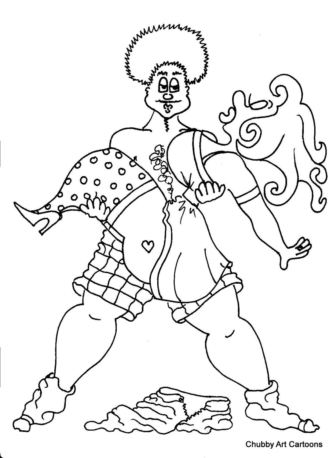 swept off her feet coloring page by chubby art cartoons